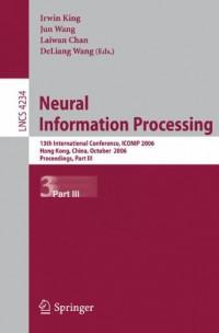 neural-information-processing-13th-international-conference-iconip-2006-hong-kong-china